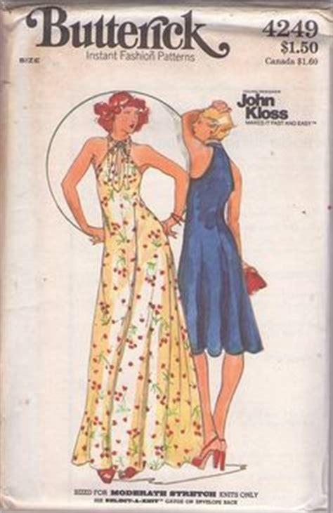 vintage dress 70 s slinky 1000 images about kloss designer sewing patterns on