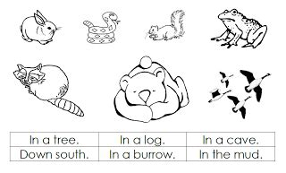 printable of hibernating animals also had a poem called quot winter