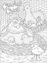 Coloring Dover Animal Publications Welcome Adult Calming Crochet Ch Colouring Doverpublications sketch template