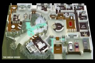 3D Luxury Mansion Floor Plans