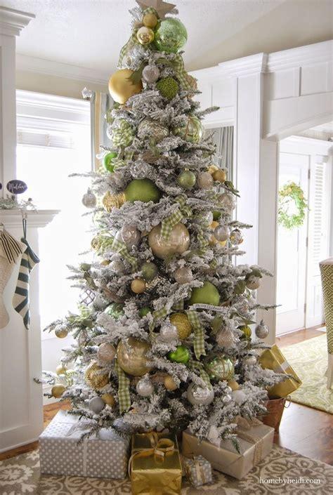 flocked christmas trees ideas  pinterest artificial xmas trees white christmas