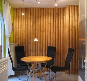Neo arquitecturaymas: Originales paredes decoradas con bambú