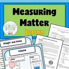 Introduction To Mattermeasuring Matter Powerpoint And Notes  Earth Science  Physical Science