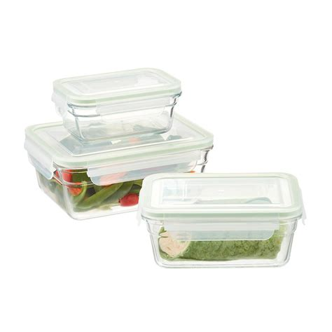 the cuisine glasslock rectangular food containers with lids the
