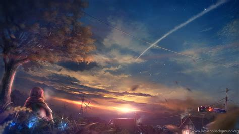 Anime Sunset Wallpaper - beautiful scenery anime at sunset wallpapers desktop