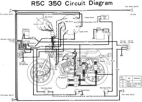 yamaha rd350 r5c wiring diagram evan fell motorcycle works