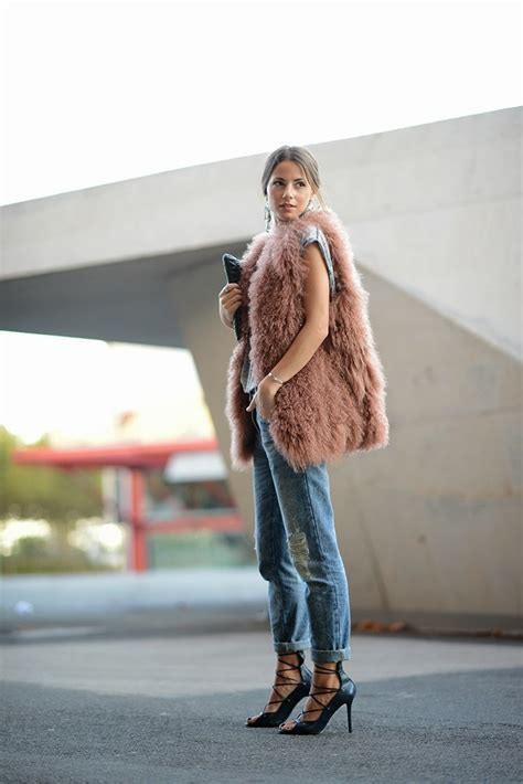 Fur Vest Outfits. How to Wear a Fur Vest - Fashion Tag Blog