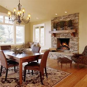 Beautiful Fireplace Settings - Traditional - Dining Room