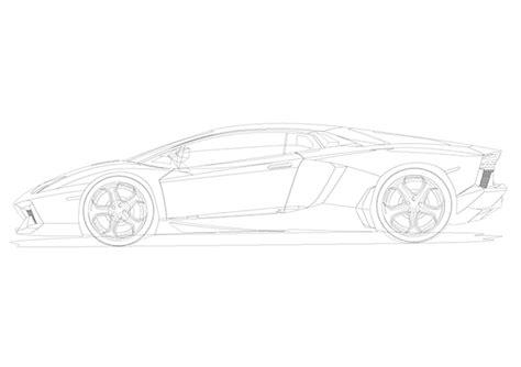 lamborghini sketch side lambo aventador vector illustrator on behance