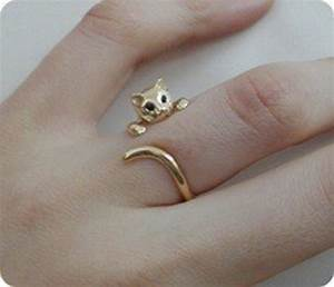 jewels gold ring cat ring wrap cat bag ring jewerly With cat wedding ring