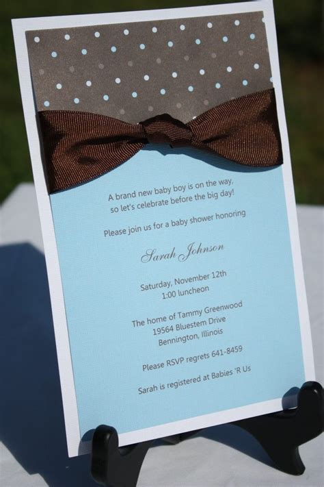 images  homemade baby shower invitation