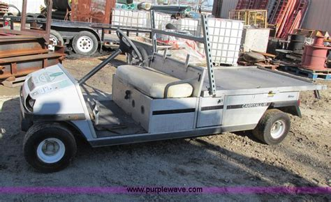 1996 club car carry all vi flatbed utility cart no reserve auction wednesday february 05