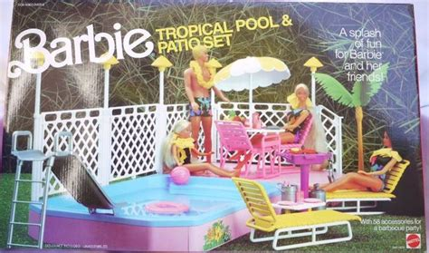 barbee pool deck tropical pool patio set my favorite 80 s toys