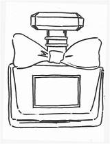 Bottle Perfume Coloring Template Sketch sketch template