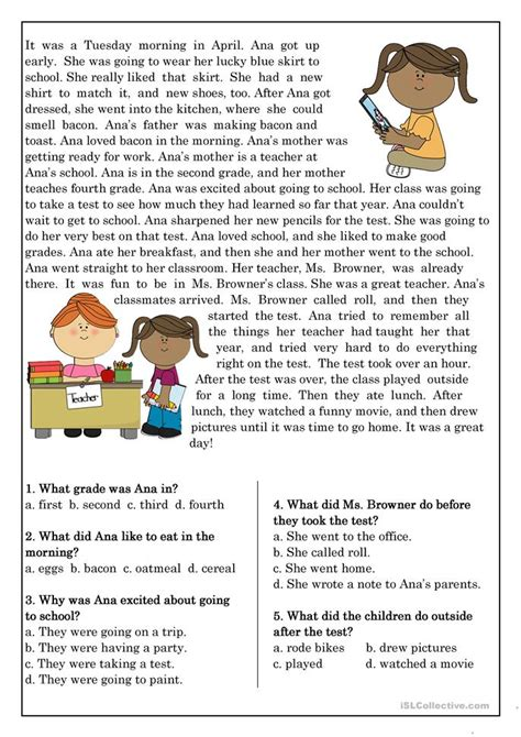 Reading Comprehension For Esl Students Worksheet  Free Esl Ebooks Printable Worksheets1000