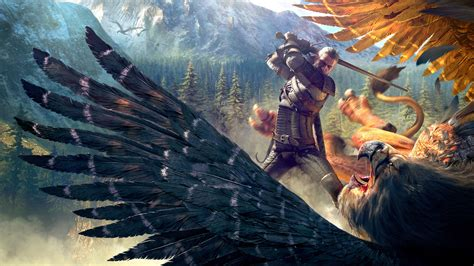 wallpaper  witcher  wild hunt geralt griffin
