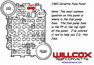1982 Corvette Fuse Panel And Fuel Pump Fuse Location And Computer Command Schematic