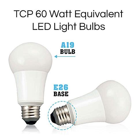 tcp 9w led light bulbs 60 watt equivalent a19 e26