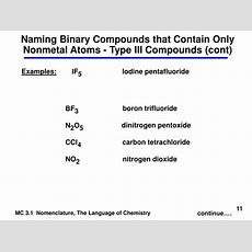 Ppt  Chemical Nomenclature Powerpoint Presentation Id3058630