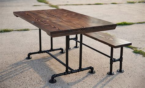 diy industrial dining table solid wood industrial farmhouse table industrial pipe