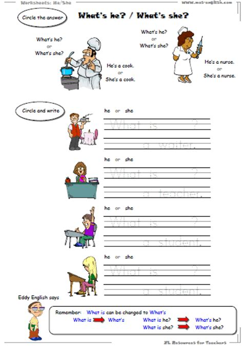 english worksheets  grammar introduction