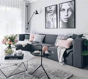 couleur peinture salon conseils et 90 photos pour vous With tapis de gym avec canape vintage gris