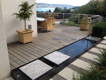 Terrassengestaltung Mit Wasserbecken terrassengestaltung mit wasserbecken set wohndesign