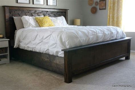 anna white casdidy king size bed plans  bedroom