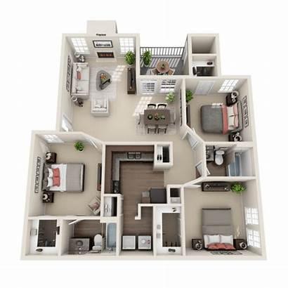 Bedroom Apartments Floor Layout Three Plans League