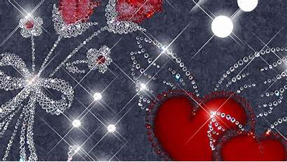 Glitter Wallpapers Hearts Wallpapercave