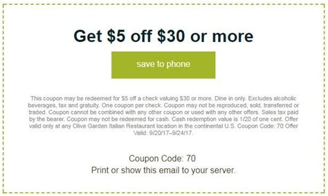 olive garden coupin 15 olive garden coupons promo codes sept 2018