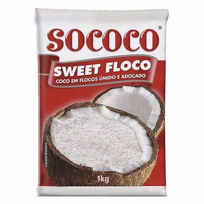 Sococo Coco Sweet 1kg Flocos Floco Ralado