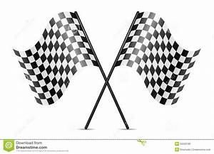 Blank Business Card Stock Vector Crossed Racing Flags Stock Photo Image 25526190