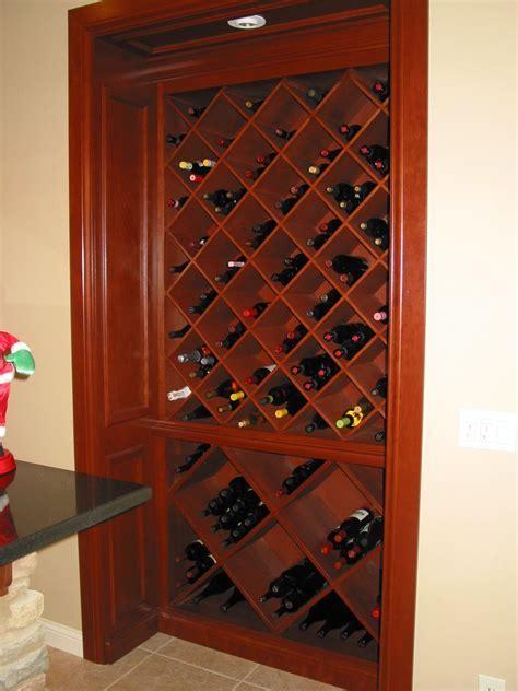 Custom Cherry Built In Wine Cabinet by Haas Distinctive