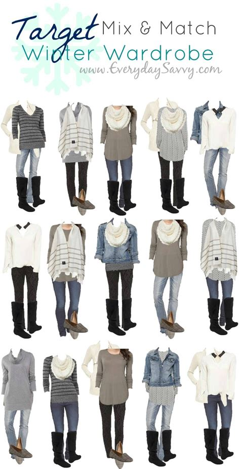 Mix and Match Target Winter Outfits. This Target capsule wardrobe makes it so easy to look ...
