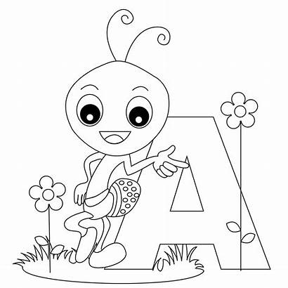 Coloring Alphabet Pages Letter Printable Letters Sheets