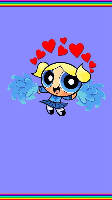 Powerpuff girls' short sleeve polka dot top with black skirt and red bow. Cute Bubbles Powerpuff Girls Wallpaper 48 ~ Fisoloji