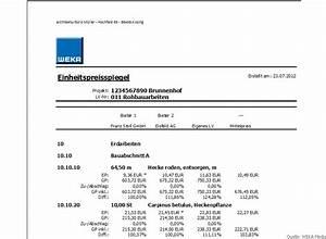1 Und 1 Rechnung : bau ausschreibung vergabe ava software muster lv ~ Themetempest.com Abrechnung