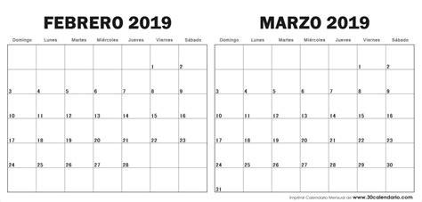 foto de CALENDARIO 2020 ENERO FEBRERO Y MARZO Calendario 2019