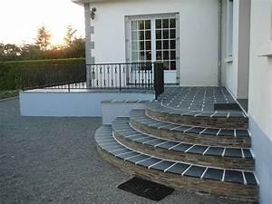 Revetement Escalier Exterieur : minardoises escalier terasse ext rieure en ardoise ~ Premium-room.com Idées de Décoration