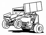 Sprint Race Racing Cars Clipart Clip Dirt Drawing Outline Decal Vector Coloring Late Track Template Silhouette Line Cliparts Google Speedway sketch template