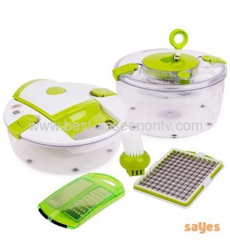 SALAD CHEF/VEGETABLE SLICER/FRUIT CHOPPER/SPINNER