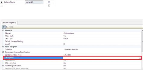 sql server show tables how to add a comment to an existing table column in sql