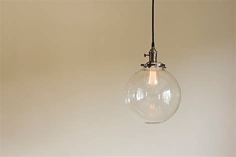 glass globe pendant light fixture 10 blown glass