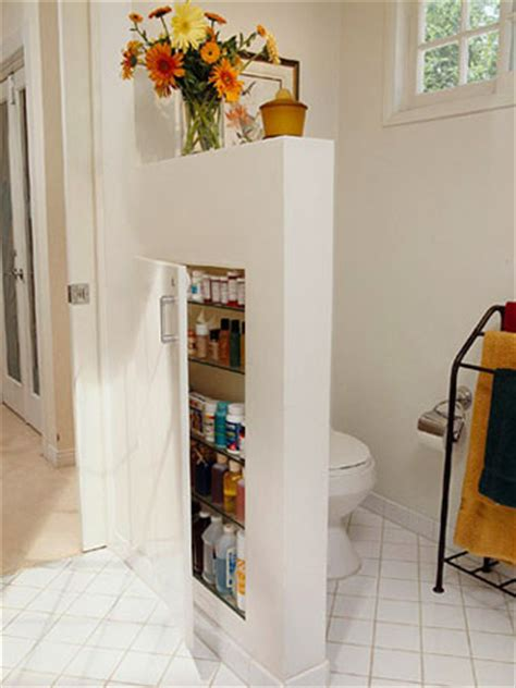 26 great bathroom storage ideas smart short walls are also called pony walls or knee walls and better homes and garden suggests