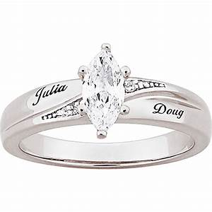 Find personalized platinum plated marquise diamond for Walmart wedding rings