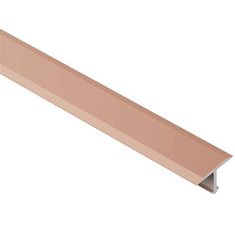schluter reno t satin copper anodized aluminum 17 32 in x