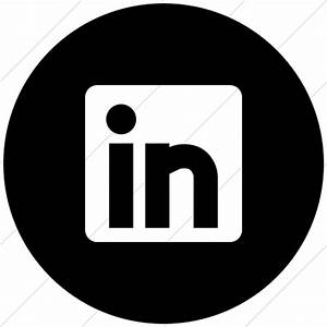 Image Gallery linkedin circle icon red