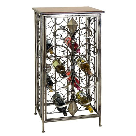 iron wine rack wrought iron wine rack table a creative