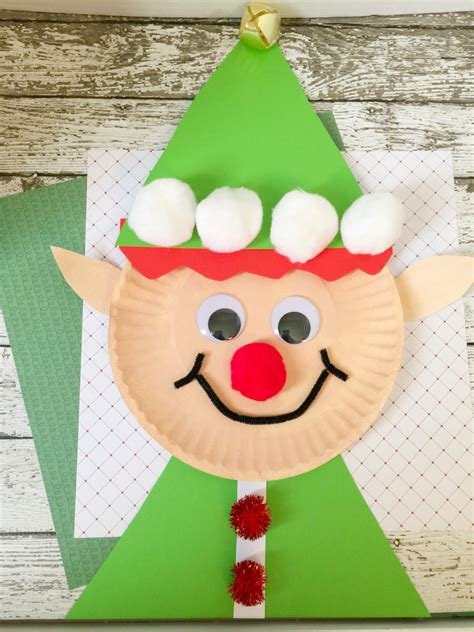 christmas projects christmas elf paper plate craft for kids